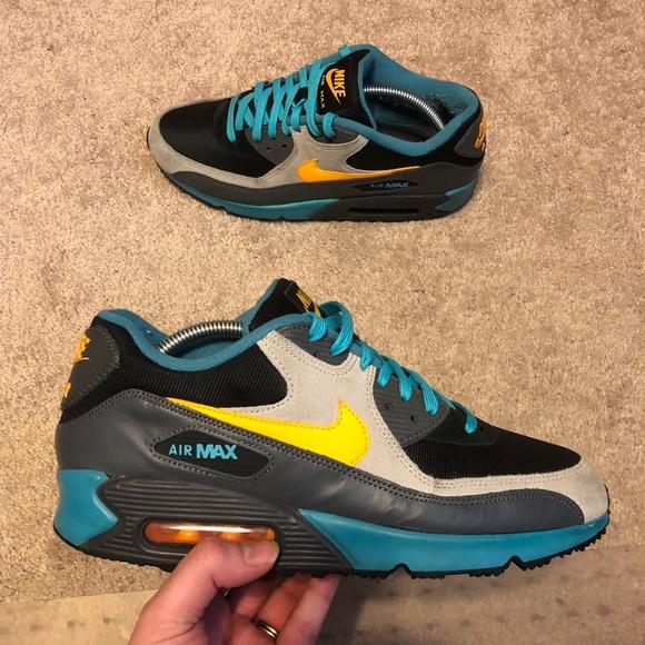 ff82f063 Nike Air Max 90 Winter PRM Teal Orange Gray Sz 9.5.  M_5b625a54aaa5b85e70ab998e